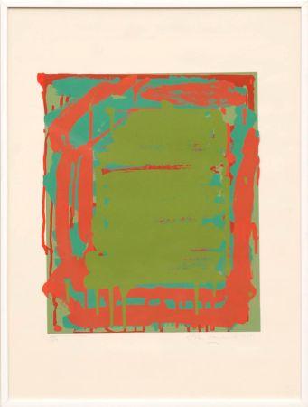 Serigrafía Hoyland - Untitled Green