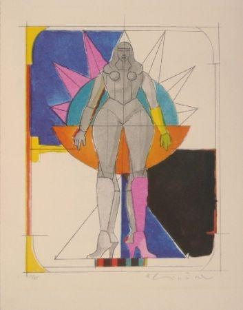 Litografía Lindner -  Untitled I