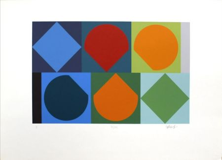 Serigrafía Vasarely - Untitled II