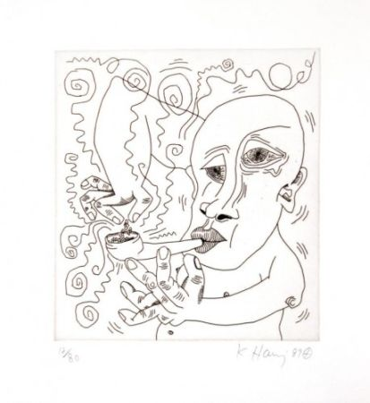 Grabado Haring - Untitled Iii From