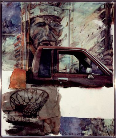 Sin Técnico Rauschenberg - Untitled (Native American with Truck)