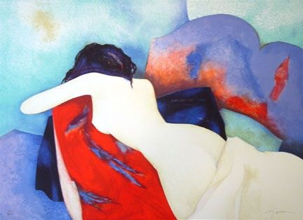 Litografía Gaveau - Untitled (Nude IV)