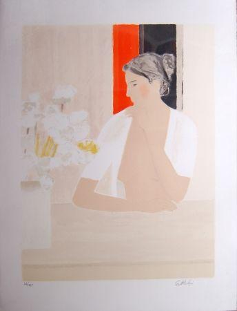 Litografía Cathelin - Untitled (Portrait)