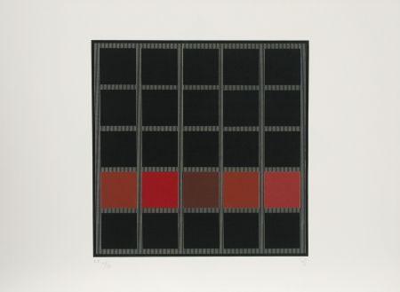 Serigrafía Soto - Untitled (Red)