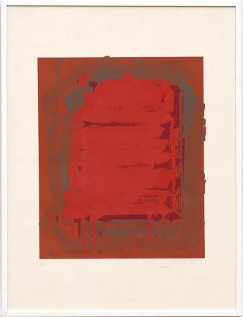 Serigrafía Hoyland - Untitled Red