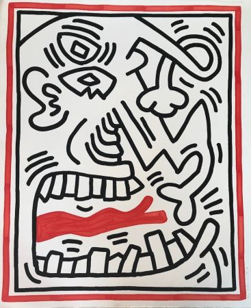 Litografía Haring - Untitled (Red Tongue)