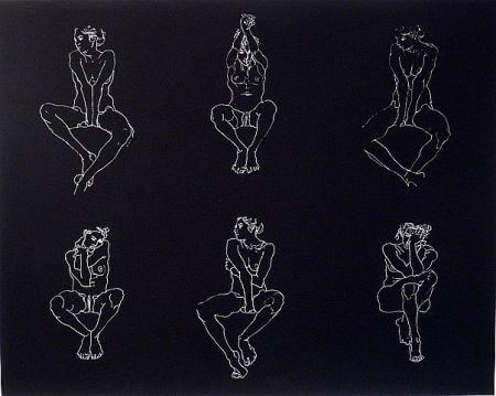 Serigrafía Graham - Untitled, Six Nudes