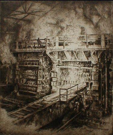 Aguafuerte Kuhler - Untitled (steel mill)