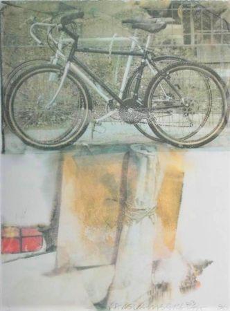 Serigrafía Rauschenberg - Untitled (Two Bicycles)