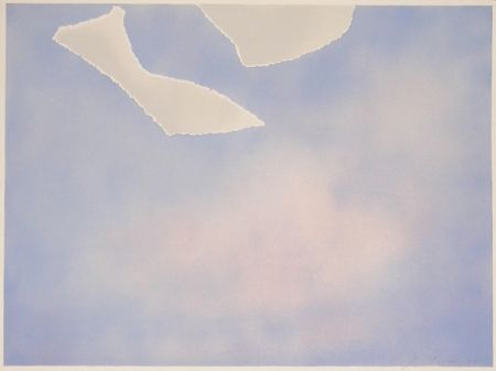 Litografía Goode - Untitled (white paper clouds)