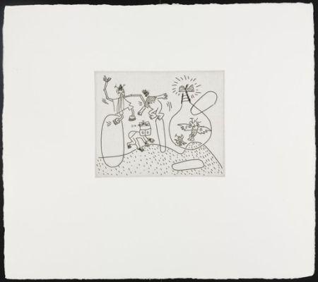 Serigrafía Haring - Untitled (with Sean Kalish)