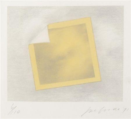 Litografía Goode - Untitled (yellow folded photo)