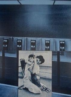 Serigrafía Monory - USA 76 - etreinte