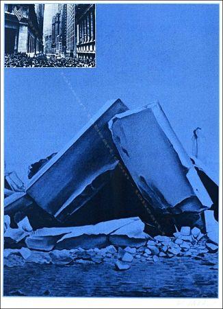 Serigrafía Monory - Usa 76 - Ruines.