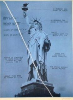 Serigrafía Monory - Usa 76 - Statue De La Liberté