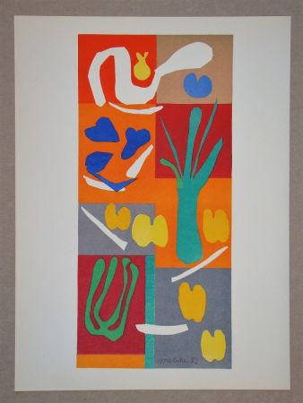 Litografía Matisse (After) - Végétaux - 1952