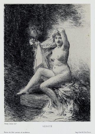 Litografía Fantin-Latour - Vérité (petite planche)