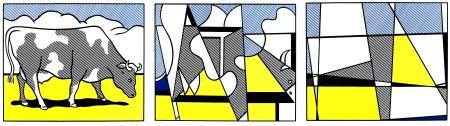Litografía Lichtenstein - Vaches