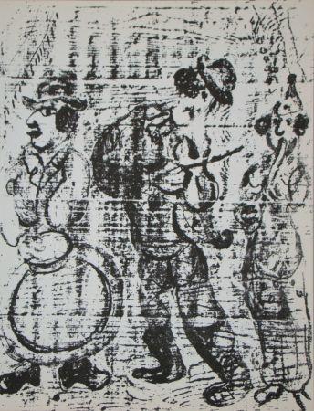 Litografía Chagall - Vagabondes faire la musique
