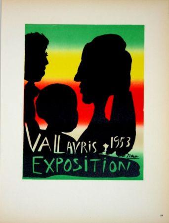 Litografía Picasso - Vallauris Exposition 1953