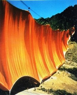 Múltiple Christo - Valley Curtain, Rifle, Colorado, 1970-72