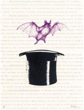 Litografía Brossa - Vampir