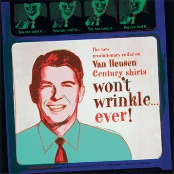 Serigrafía Warhol - Van Heusen (Ronald Regan) (FS II.356)