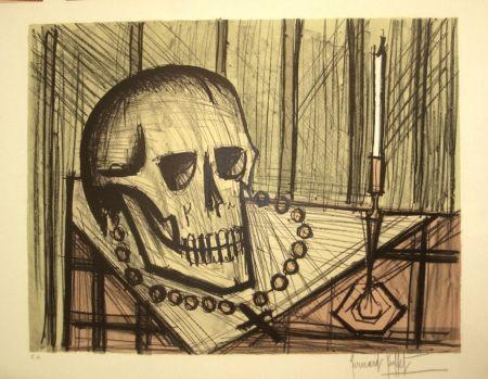 Litografía Buffet - Vanité au crâne