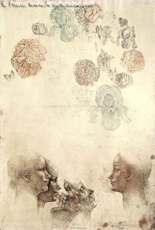 Aguafuerte Anderlê - Vanitas IV (1983)