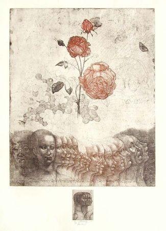 Aguafuerte Anderlê - Vanitas V (1983)