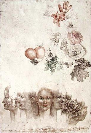 Aguafuerte Anderlê - Vanitas VIII (1983)