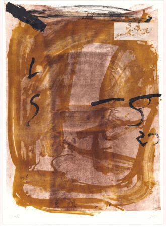 Litografía Tàpies - Variations