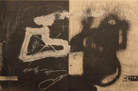 Litografía Tapies - Variations 13