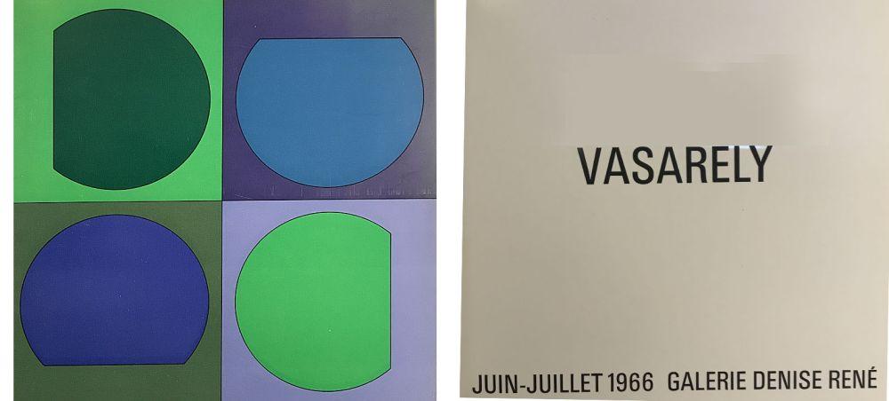 Libro Ilustrado Vasarely - Vasarely Juin Juillet 1966 - Galerie Denise René