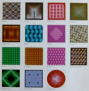 Litografía Bird - Vasarely reflections - 15 lithographs