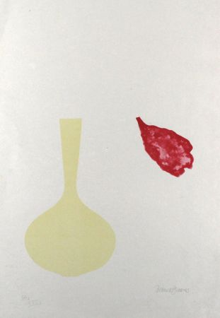 Litografía Greaves - Vase and Falling Petal