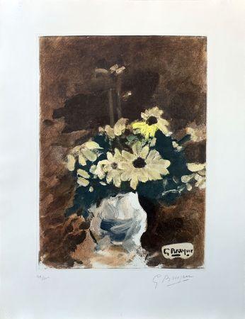 Aguafuerte Braque (After) - Vase de fleurs jaunes