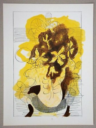 Litografía Braque (After) - Vase jaune