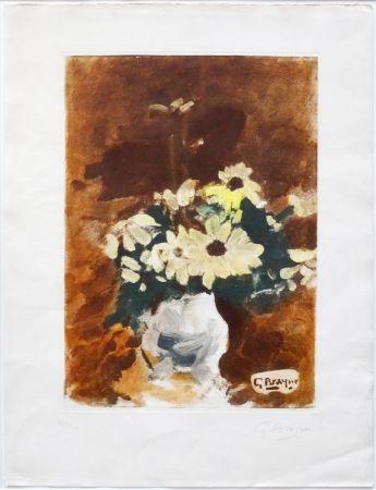 Aguatinta Braque - Vases aux fleurs jaunes