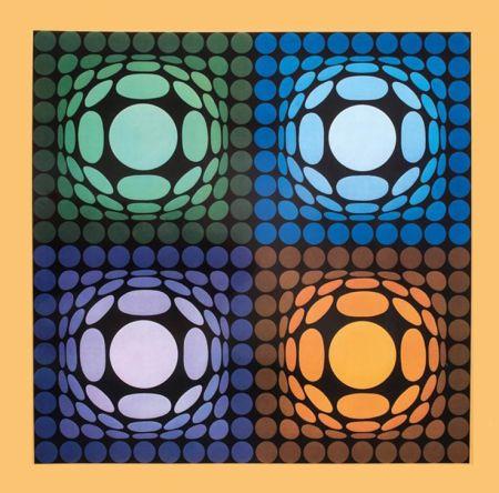 Heliograbado Vasarely - '' VEGA BI ARCT ''