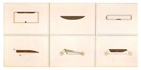 Litografía Piacentino - VEHICLES SCULPTURES - WALL SCULPTURES