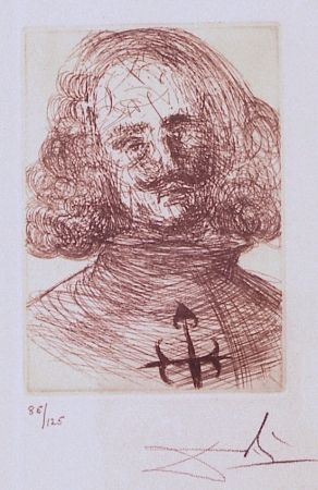 Grabado Dali - Velazquez, from Five Spanish Immortals Series
