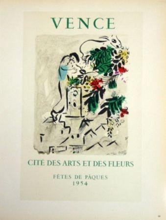 Litografía Chagall - Vence - Cité des Fleurs