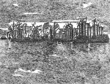 Aguafuerte Zancanaro - Venezia industriale
