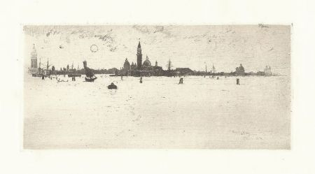Grabado Pennell - Venice from the Sea