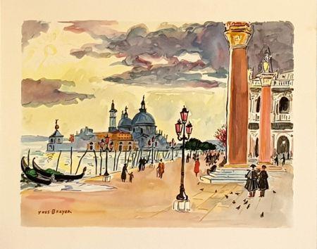 Litografía Brayer - Venise