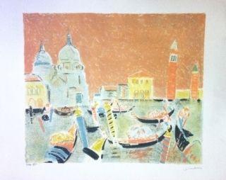 Litografía Truphemus - Venise