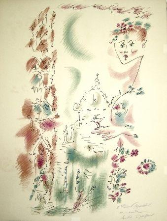 Litografía Masson - Venise en fleurs