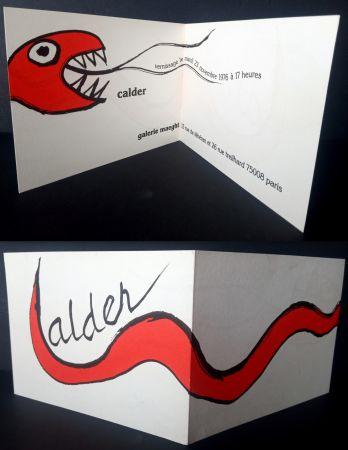 Litografía Calder - Vernissage Galerie Maeght Paris
