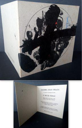 Litografía Tàpies - Vernissage U no es Ningú Galería oan Prats